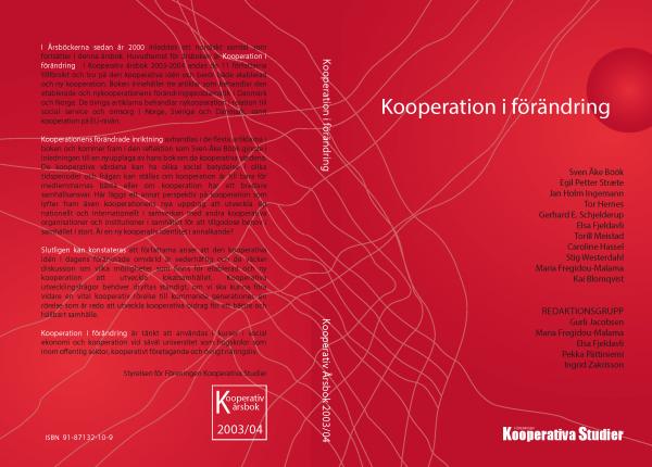 Kooperativ Årsbok, omslag, 2003–04